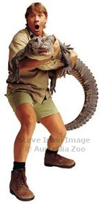 Steve Irwin, Crocodile Hunter, with a Crocodile