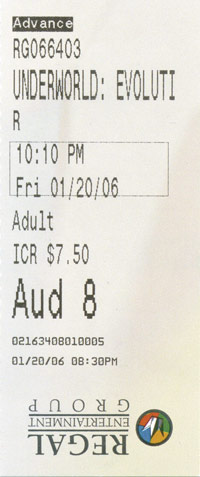 Underworld: Evolution Ticket