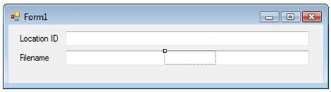 Label highlighted after selecting from properties window