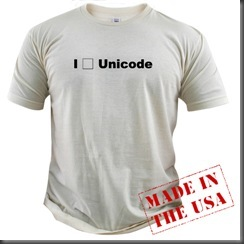 I {entity} Unicode T-shirt