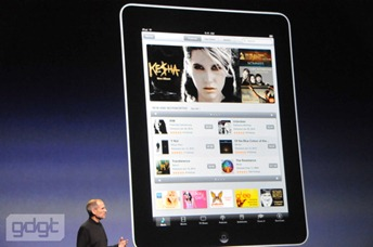 iTunes in iPhone style interface