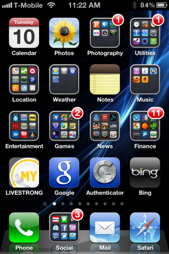 iPhone 4s on T-Mobile Screenshot